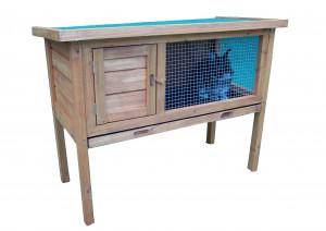 Clapier sur pied / 0,41 m2 /  2-3 animaux / toit 1 pente bitumé