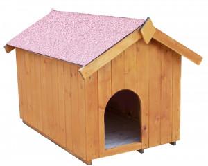 Niche à chien bi-pente pour petits chiens / 0,77 m2 / toit bitumé