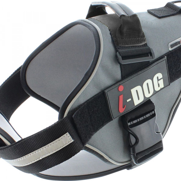 Harnais «NeoCITY» I-DOG - Noir/Gris - Taille XL