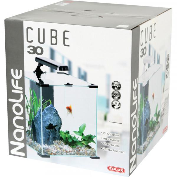 Aquarium NANOLIFE Cube 30, noir