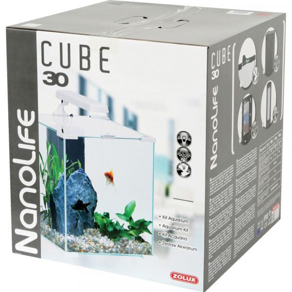 Aquarium NANOLIFE Cube 30, blanc