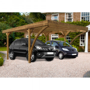 Carport 2 véhicules DOUBLE HAROLD 6040x5120mm