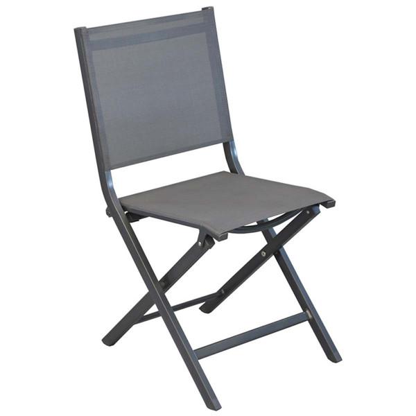 Lot de 6 chaises pliantes grises Théma