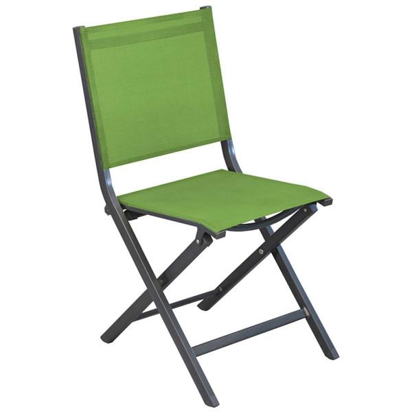 Lot de 6 chaises pliantes vertes Théma